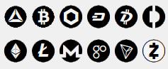 Bitcoin – BTC, BitcoinCash – BCH, Basic Attention Token – BAT, ChainLink Token – LINK, Dash – DASH, DigiByte – DGB, DigitexFutures – DGTX, Ethereum – ETH, Litecoin – LTC, Monero – XMR, OmiseGo – OMG, Tron – TRX, Zcash – ZEC